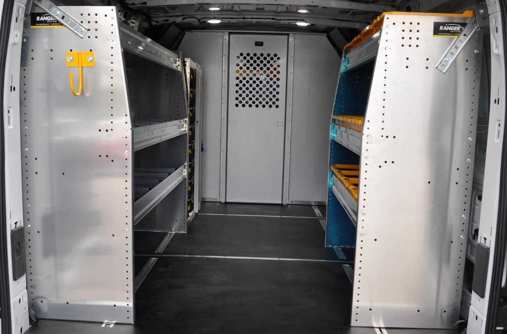 Why is shelving important or valuable for fleet vehicles?
